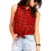 Gingham Knot Top | Cute Tops at Pink Ice