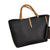 Trendy European Soft Leather Bag - Tote Bag or a Shoulder Bag - with Small Change Purse