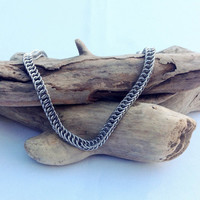 Petite Stainless Steel Unisex Half Persian Necklace- Ready to Ship