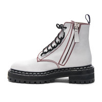 Proenza Schouler Leather Boots in White | FWRD