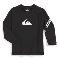 Boy's Quiksilver 'All Time' Water Repellent Long Sleeve Rashguard,