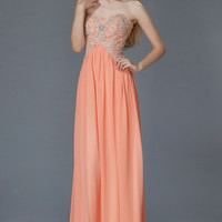 G2036 Long Chiffon Prom Bridesmaid Dress or Evening Gown