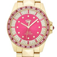 Juicy Couture 'Stella' Crystal Bezel Pyramid Bracelet Watch, 40mm