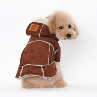 Suede Fabric Dog Clothes Winter Warm Clothing For Dogs