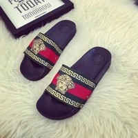 WOMEN LEATHER SLIPPERS FLIP FLOPS SANDALS LOAFERS