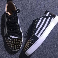 DCCK2 Cl Christian Louboutin Low Style #2057 Sneakers Fashion Shoes