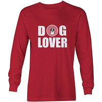 Boston Terrier Dog Lover Long Sleeve Red Unisex Tshirt Adult Large BB5273-LS-RED-L