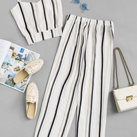 Striped Cami Top With Pants