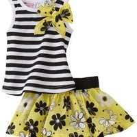 Young Hearts Baby-Girls Infant Knit Top With Matching Skooter Skirt Set