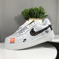 """Nike Air Force 1 Low """"Just Do It AF 1 Skateboarding Shoes Sneaker AR7719 100"""