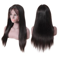 Straight Hair Pre Plucked With Baby Hair Brazilian Human Hair 360 Lace Frontal Wigs