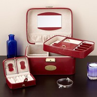 Red Leather Jewelry Case