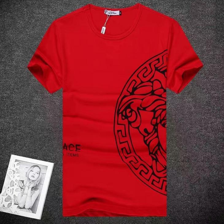 Image of Versace  Men Fashion Casual Letter Print Shirt Top Tee