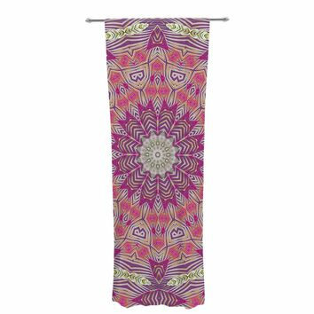 "Alison Coxon ""Gypsy Medallion Purple"" Pink Digital Decorative Sheer Curtain"