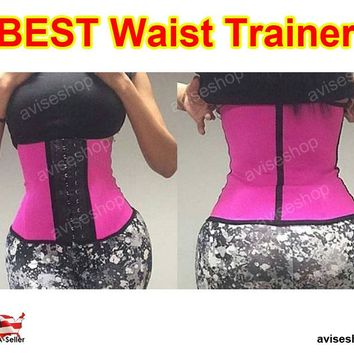 Diet Workout exercise  Underbust Waist Trainer Cincher Corset Girdle Workout Tummy Belt Shaper Top