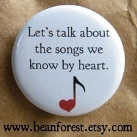 songs we know by heart by beanforest on Etsy