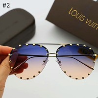 LV Louis Vuitton 2018 new personalized frog mirror sunglasses F-A-SDYJ #2