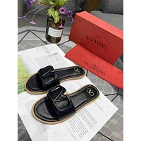 Valentino Black Women Casual Fashion Sandals High Heeled slippers Shoes Size 36-40