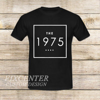 the 1975 t shirt box swag logo facedown rock band music indie on T shirt