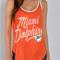 Junk Food Clothing - NFL Miami Dolphins Tank - NFL - Collections - Womens