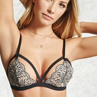 Strapped Lace Triangle Bralette