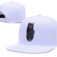 RIPNDIP Lord Nermal White Snapback Hat