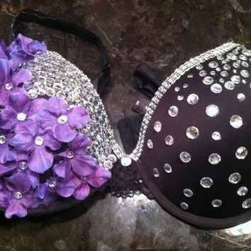 Purple Nightshade Rave Bra
