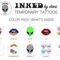INKED by dani Temporary Tattoos: Color Pack