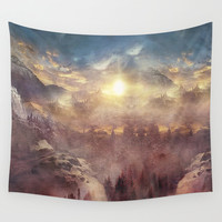 Wish You Were Here Chapter I (Color option) Wall Tapestry by Viviana Gonzalez