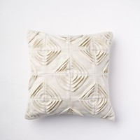 Felted Geo Pillow Cover - Ivory