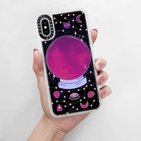 CASETiFY iPhone X Case - Crystal ball on black background / mystical, magical, dreamy pattern by Marta Olga Klara