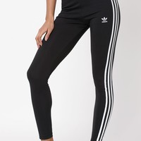 adidas Adicolor Black 3-Stripes Leggings at PacSun.com