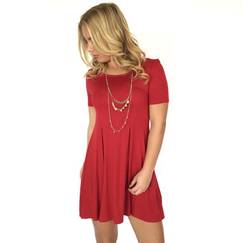 Seams Right Jersey Dress In Tango Red