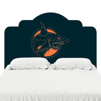 Shark Out of Water Headboard Decal