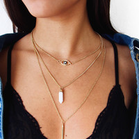Eye Layer Necklace
