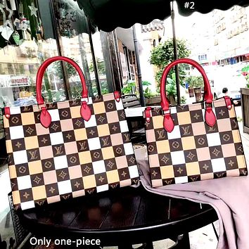 LV new plaid print women's handbag shoulder bag #2