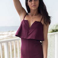 Fine Like Wine Burgundy Romper