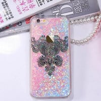Fashion Lace quicksand phone case for iphone 6 6s 6 plus 6s plus + Nice gift box 080902