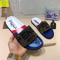 Fendi Fashion sequined slippers
