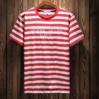 Guess Woman Men Fashion Casual Shirt Top Tee-6