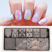 BP-L027 llusionTheme Nail Art Stamp Template Image Plate Rctangular Stamping PLates BORN PRETTY 12 x 6cm