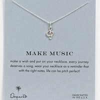 Dogeared 'Reminder - Make Music' Boxed Pendant Necklace