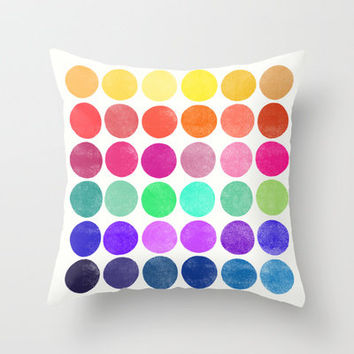 Colorplay 6 Throw Pillow by Garima Dhawan