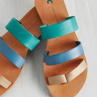 BC Footwear Zing in Your Step Sandal in Seaside | Mod Retro Vintage Sandals | ModCloth.com
