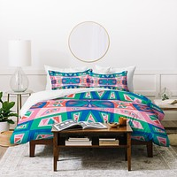 Andi Bird Checkmate Melody Duvet Cover
