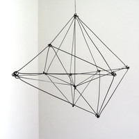 Himmeli Inspired Geometric Wire Sculpture