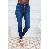 Shoreline High Waisted Jeans (Medium Dark Wash)