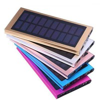 Ultra-thin portable solar charging treasure