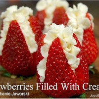 Strawberries Filled With Cream