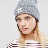 Herschel Grey Marl Knitted Beanie at asos.com